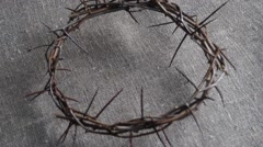Crown of thorns Stock Footage