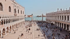 Cinemagraph, time lapse, tourist at Piazza San Marco, venice, italy Stock Footage
