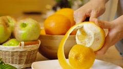 Cleared of peel orange Stock Footage