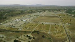 Aerial view of American Military Base. Arkistovideo