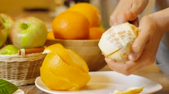 Cleared of peel orange Stock Footage