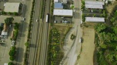 Aerial view of California road highway, freeway Arkistovideo