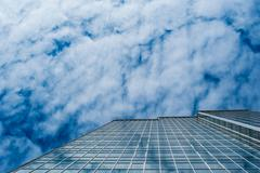 Skyscraper for business office against sky building glass background Kuvituskuvat