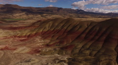 Aerial view of the Painted Hills, Oregon Stock Footage