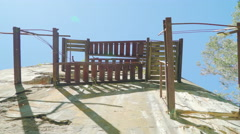 Closer look of the stairs of the ruins Stock Footage