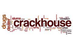 Crackhouse word cloud Stock Illustration