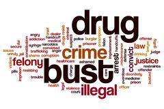 Drug bust word cloud Stock Illustration