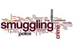 Smuggling word cloud Stock Illustration