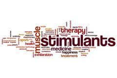 Stimulants word cloud Stock Illustration