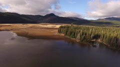 Aerial view of Sparks Lake, Oregon Stock Footage