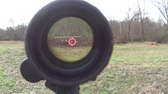 AR 15 Through Scope Red Dot Stock Footage
