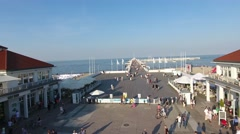 Molo, pier, quay over the sea, ocean Stock Footage