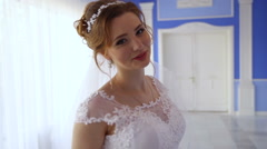 Bride poses for the camera Stock Footage