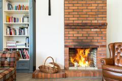 Warm place at your house Stock Photos