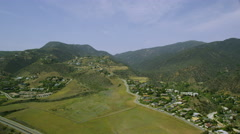 Aerial view from helicopter of California Stock Footage