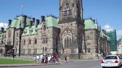 East block Ottawa Parliament Stock Footage