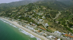 Aerial view of California Coastline along the Big Sur Stock Footage