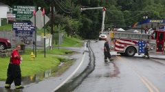 Female Firefighter Directs Traffic Stock Footage