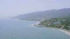 Aerial view of California Coastline along the Big Sur. Stock Footage