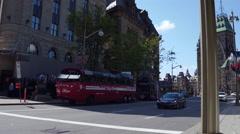 Elgin street downtown ottawa parliament Stock Footage