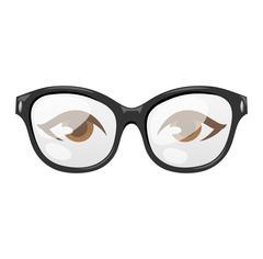 Glasses human eye vector Stock Illustration