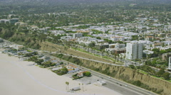 Aerial view from helicopter of California Suburban Stock Footage