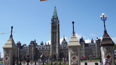 Entering Parliament Hill from front Stock Footage
