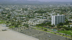 Aerial view from helicopter of California Suburban Homes Stock Footage