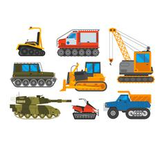 Caterpillar vehicle tractor vector Stock Illustration
