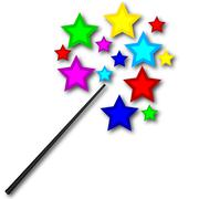 Magic wand with bright stars Piirros