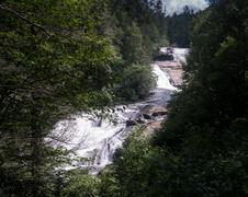 Triple Falls in Dupont State Forest North Carolina Stock Photos