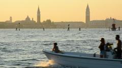 Venice sunset Stock Footage