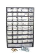 Locker for screws and bolts Stock Photos