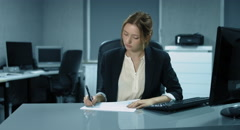4K: A young controller is working in an office Stock Footage
