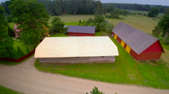 Aerial shot of the newly installed shingles roof Stock Footage