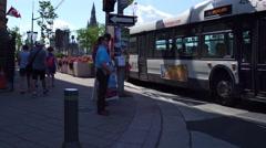 Ottawa downtown pedestrians Stock Footage