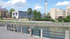 Ottawa University by the Canal Stock Footage