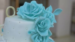 Wedding cakebeautiful wedding cake is the video restaurant Stock Footage