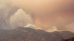 Time lapse of massive Los Angeles wildfire in 2016 Stock Footage