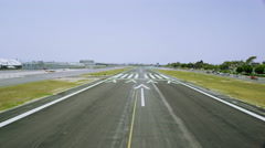 Aerial view of Californian Airport taking off from runway Stock Footage