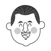 Happy middle age man icon Stock Illustration