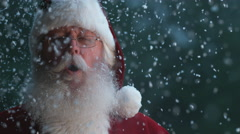 Santa Claus with snow falling in slow motion, Phantom Flex 4K Stock Footage