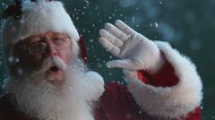 Santa Claus waving in slow motion, Phantom Flex 4K Stock Footage