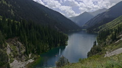 Beautiful lake in the mountains. Time laps Stock Footage