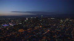 Helicopter Aerial view of Los Angeles County Stock Footage