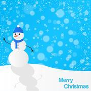 Christmas snowman illustration Stock Illustration