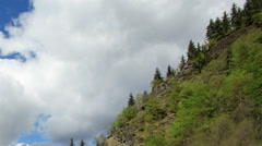 Alpine Lake Ritsa spring, Abkhazia. Full HD Stock Footage