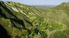 Aerial view of Summer California Countryside, USA Stock Footage
