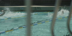 Swimmers swimming in swimming pool Stock Footage