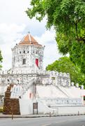 Phra Sumen Fort ,Bangkok Thailand,Attraction place in Thailand Stock Photos